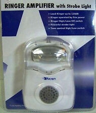 Very Bright & Loud 120dB Telephone Ringer, Strobe Light Phone Flasher Home Work