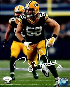 Packers Super Bowl Champ CLAY MATTHEWS Signed 8x10 Photo #5 AUTO - JSA