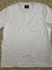 Abercrombie & Fitch Mens Super Soft Muscle T-Shirt New Grey Vintage HEATHER GREY