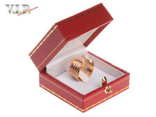CARTIER RING Gr.52 DOUBLE-C-LOGO TRINITY BAND 18K/750 TRICOLOR GOLD BAGUE ANELLO