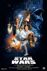 Star Wars Poster A New Hope A4 Vintage Retro