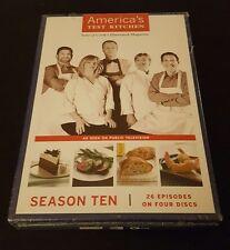 America's Test Kitchen: Season Ten (DVD, 2010) 10 PBS cooking tv show series NEW