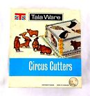 Vintage TALA WARE Circus Cutters w/Box Set of 6 Metal Cookie Cutters England