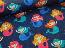 Jersey mit Meerjungfrauen Nixe blau pink türkis Meerjungfrau dunkelblau