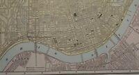 Vintage 1891 ~ CINCINNATI ~ Map Old Antique Original Atlas Map 91/070317