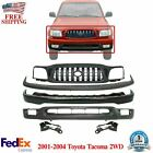 Front Bumper Kit Primed Brackets Grille For 2001-2004 Toyota Tacoma 2wd
