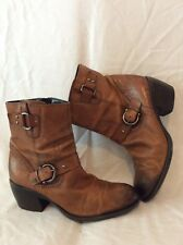 Clarks Brown Ankle Leather Boots Size 6D