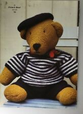 "Knitting Pattern For Teddy Bear French  Bear  16"" In Height"