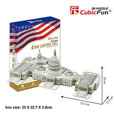 CubicFun 3D Puzzle Paper Model the Capitol Hill USA MC074h 132 pcs DIY Jigsaw