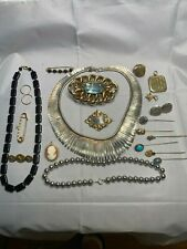 Victorian/Vintage Gold Filled Mixed Metal 10K Sterling Jewelry Scrap/Use 259gD70