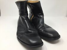 Magnanni Side Zip Boot 11.5 D 45.5  Black Plain Toe Leather