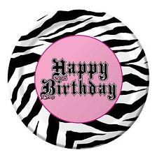 "Super Stylish Sweet 16th Birthday Zebra Print 7"" Paper Plates 8 Per Pack"