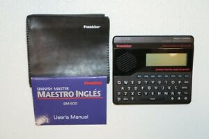 Franklin Spanish Master Handheld Electronic SM-600 With Plastic Case & Booklet