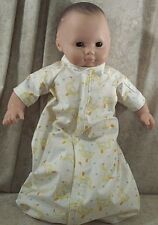 """Doll Clothes Baby Made2Fit American Girl Boy 15"""" Sleeper Cotton Ducks Yellow"""