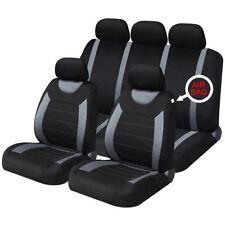 Grey Black Full Set Front & Rear Car Seat Covers for Dacia Logan Mcv 13-On