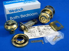 weslock polished brass savannah bath bedroom privacy door knob set 610 sav 3 - Weslock