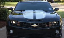 SILVER - CAMARO RACING STRIPES Rally Decal 10 11 12 13 14 15 Chevy