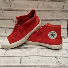 Converse Red Hi-tops - Size 9