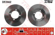 TRW Juego de 2 discos freno 219mm KIA PICANTO MAZDA FORD AUSTRALIA DF2662