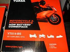 Batteria Yuasa YTX14-BS DORSODURO SHIVER MANA CAPONORD FALCO SR MAX SRV