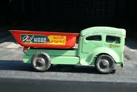 Lincoln Toy Phil Wood Dump Truck - Canada - pressed steel - Rare Version!