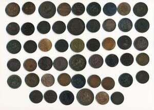 51 OLD CANADA LARGE CENTS & TOKENS (COLLECTIBLES) > SEE PICTURES > NO RESERVE