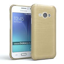 Schutz Hülle für Samsung Galaxy J1 Ace Brushed Cover Handy Case Gold
