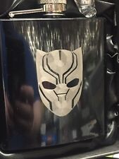 BLACK PANTHER HIP FLASK 6oz black stainless steel hipflask the Avengers wakanda