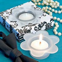 Floral design tea light candle holder