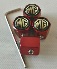 MG RED ANTI THEFT DUST VALVE CAPS LIMITED ASTRA CORSA ALL MODELS IDEAL GIFT
