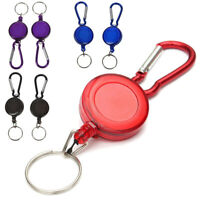 2 PCS BADGE REEL - RETRACTABLE RECOIL YOYO SKI PASS ID CARD HOLDER KEY CHAI N1H6