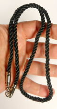 Thai braided BLACK SILK cord necklace for 1 Buddha Amulet Pendant 26 inches long