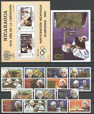 Nobelpreis, Albert Einstein, Raumfahrt, Space - Nicaragua - LOT ** MNH