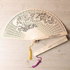 Bamboo Oriental Painting Pocket Hand Folding Fan Gift Luxurious Type Light ige