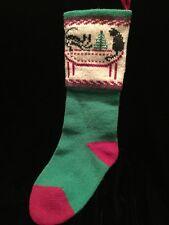 Vintage Wool Christmas Stocking Dog Cat Tree Vermont
