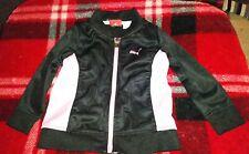 Puma Girl's Pink Black 18M Toddler Full Zip Long Sleeve Jacket