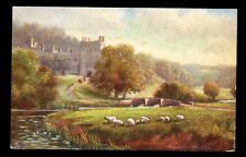 Derbyshire Haddon Hall artist  F W Hayes Tuck Oilette #7122 PPC