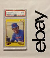 Sammy Sosa PSA 9 ROOKIE Card Star 1990 NM #61 Minor League INVESTABLE ASSET NR