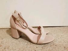 Nude Leather Betts Heels Womens Size 9 Unworn