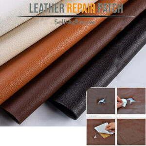 PU Leather Self Adhesive Patch Stick-on Couch Tear Fix Hole Sofa Repair Sticker