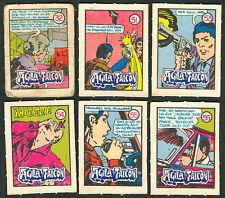 6 Vintage EXOTIC AGILA AT FALCON Philippine TEKS / Trading Comic Cards