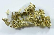 A30 Crystalline Gold Nugget Specimen 4.40 Grams Sierra County California Rare