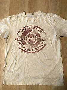 Nickelback Midnight Queen Tour 2012 Size L Men's Concert T-Shirt