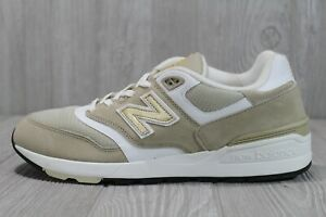 50 New Balance Mens 597 Gold ML597RSA 547 made in usa 997 leather khaki Shoe 11D
