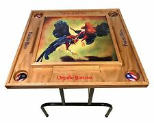 Gallos Domino Table with Puerto Rico Flag