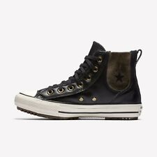 05b36c0fa216 Ladies Converse Shoes Size 6 Chuck Taylor All Star Upper Leather Black Gold