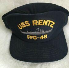 Vintage USS Rentz FFG-46 Navy Hat Cap, Snapback