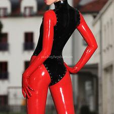100% New Latex Rubber All-body Suit Bodysuit Masquerade Catsuit Size XXS-XXL