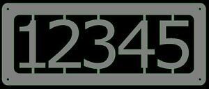 custom metal address sign elegant rectangle large numbers steel