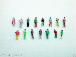 5000 x Train Model 1:200 Scale Painted Figures People Z